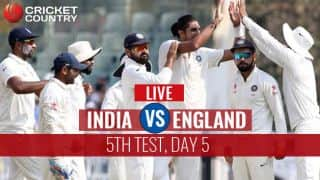 Live Cricket Score, India vs England, 5th Test, Day 5 at Chennai; India win by an innings and 75 runs
