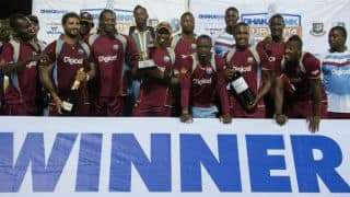 Denesh Ramdin, Darren Bravo, Ravi Rampaul help West Indies maul Bangladesh by 91 runs in 3rd ODI at St. Kitts
