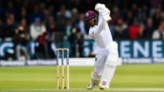 West Indies lead by 82 runs with 4 wickets in hand against England, at lunch on Day 3 of 3rd Test