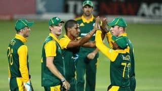 Live Cricket Score, South Africa vs Sri Lanka, ICC World Cup 2015, 3rd warm-up match at Christchurch, South Africa 188/5 in 24.3 overs: South Africa win by 5 wickets