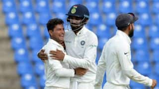 India vs Sri Lanka, 3rd Test, Day 2: Hardik Pandya's hundred, Kuldeep Yadav's 4-for place visitors well ahead in the race