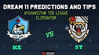 Dream11 Team Kabul Eagles vs Speen Ghar Tigers Eliminator Afghanistan T20 League 2019 – Cricket Prediction Tips For Today's T20 Match KE vs ST at Kabul