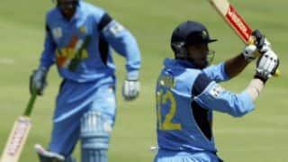 Yuvraj Singh bowled off a wide