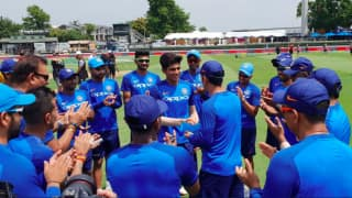 Shubman Gill gets maiden India cap from MS Dhoni as India's 227th ODI debutant
