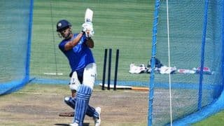 In pics: India vs Australia, 3rd ODI: Dhoni, Dhawan, Jadhav bat as India hit the nets in Ranchi