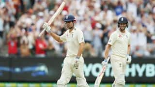 The Ashes 2017-18, 4th Test, Day 3: Alastair Cook's 173* helps England take 33-run lead before tea