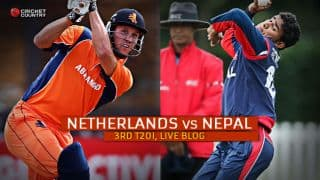 Live Cricket Score, Netherlands vs Nepal 2015, 3rd T20I at Rotterdam,Nepal 131/8 in 20 overs: Netherlands win by 18 runs