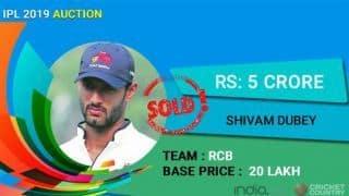 IPL Auction 2019: Mumbai allrounder Shivam Dubey valued at Rs 5 crore by Royal Challengers Bangalore