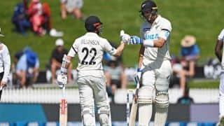 hamilton test nz vs wi new zealand declares at 519 runs captain kane williamson smashed double hundred