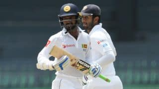 Sri Lanka openers put up 56/0 against Zimbabwe at tea, on Day 4; need another 332 to win