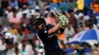 Martin Guptill records 18th half-century as Tom Latham departs