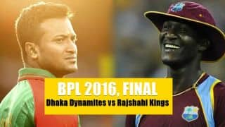 Live Cricket Score, Dhaka Dynamites vs Rajshahi Kings, BPL 2016, Final at Dhaka