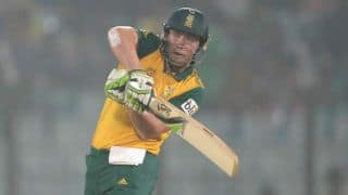 AB De Villiers congratulated by South Africa President
