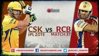 Live Cricket Score Chennai Super Kings vs Royal Challengers Bangalore, IPL 2015 Match 37 at Chennai, RCB 124 in 19.4 overs: Chennai win by 24 runs