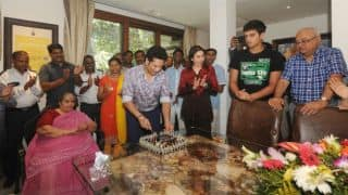 In Pictures: When Sachin Tendulkar celebrated his 44th birthday at his residence