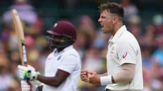 West Indies 115/3 against Australia at tea on Day 1 of 3rd Test at Sydney as rain stops play