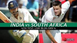 SA 72/2 at Stumps (Target 481), Live Cricket Score, India vs South Africa 2015, 4th Test at New Delhi, Day 4: Amla and de Villiers show resistance