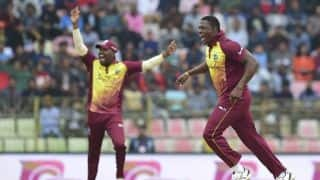 1st T20I: Sheldon Cottrell claims four as West Indies dismiss Bangladesh for 129