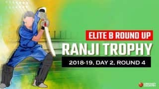 Ranji Trophy 2018-19, Round 4, Day 2, Elite B: Madhya Pradesh inch closer to first win of season