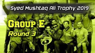 Syed Mushtaq Ali Trophy 2019, Group E, Round 3: Rishi Arothe stars as Baroda down Hyderabad
