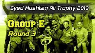 Syed Mushtaq Ali Trophy 2019, Group E, Round 3: Rishi Arothe stars as Baroda down Hyderabad