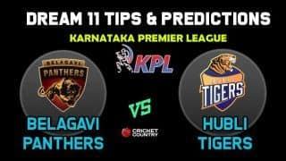BP vs HT Dream11 Team Belagavi Panthers vs Hubli Tigers KPL 2019 Karnataka Premier League – Cricket Prediction Tips For Today's T20 Match at Bengaluru