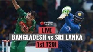 Live Cricket Score, Bangladesh vs Sri Lanka, 1st T20I: SL win by 6 wickets