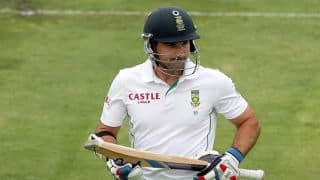 Dean Elgar reaches his fifty