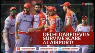 Delhi Daredevils escape unharmed after collison scare at Raipur airport