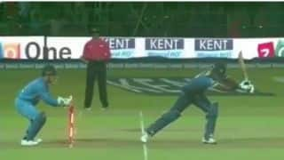 Watch MS Dhoni's lightening-fast stumping vs Sri Lanka