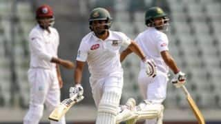 Shadman hits 76 on debut as Bangladesh wickets fall