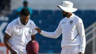 Jermaine Blackwood drafted into West Indies XI as concussion substitute for Darren Bravo