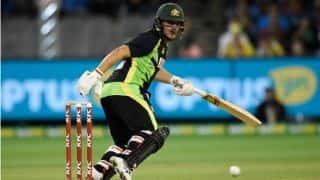 Shaun Marsh, Chris Lynn dismissed in quick succession during Australia vs India 2015-16 2nd T20I at Melbourne