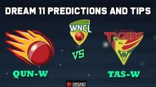 QUN-W vs TAS-W Dream11 Team Queensland Fire vs Tasmanian Tigers Match 5 WNCL 2019-20 Aussie Women's ODD – Cricket Prediction Tips For Today's Match at Brisbane