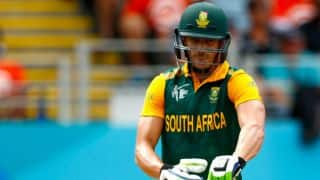 Faf du Plessis dismissed for 82 by Corey Anderson