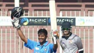 India vs England Under-19 World Cup 2014 quarterfinal Live Scorecard