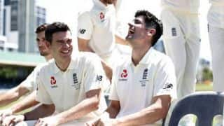 WATCH: James Anderson's cheeky tribute to Alastair Cook
