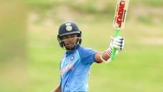Prithvi Shaw scores century for India A against Leicestershire in practice match