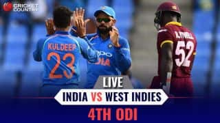 Live cricket score, India vs West Indies, 4th ODI; India lose by 11 runs; lead series 2-1