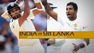 Live Cricket Scorecard: India vs Sri Lanka, 3rd Test, Colombo, Day 4