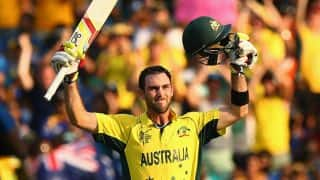 Glenn Maxwell relieved after scoring maiden ODI century against Sri Lanka in ICC Cricket World Cup 2015