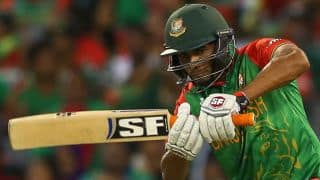 Ban vs Sco: Mahmudullah dismissed for 62 by Iain Wardlaw