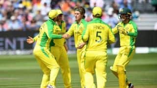 Cricket World Cup 2019: Pat Cummins, Adam Zampa pick three wickets each, Afghanistan bowled out for 207