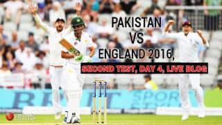 PAK 234 | Live Cricket Score, PAK vs ENG 2016, 2nd Test, Day 4: ENG win by 330 runs