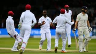 England lose half the side before lunch against West Indies; trail by 59 runs