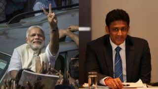 PM Narendra Modi thanks Anil Kumble the cricketing way for supporting his latest initiative