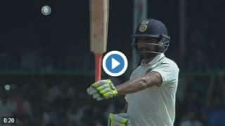 Watch Ravindra Jadeja's fencing skills after completing half-century