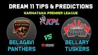 BP vs BT Dream11 Team Belagavi Panthers vs Bellary Tuskers KPL 2019 Karnataka Premier League – Cricket Prediction Tips For Today's T20 Match at Mysore