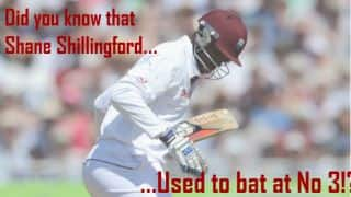 Shillingford used to be a No 3 batsman