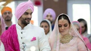 Angad Bedi gets married to Neha Dhupia